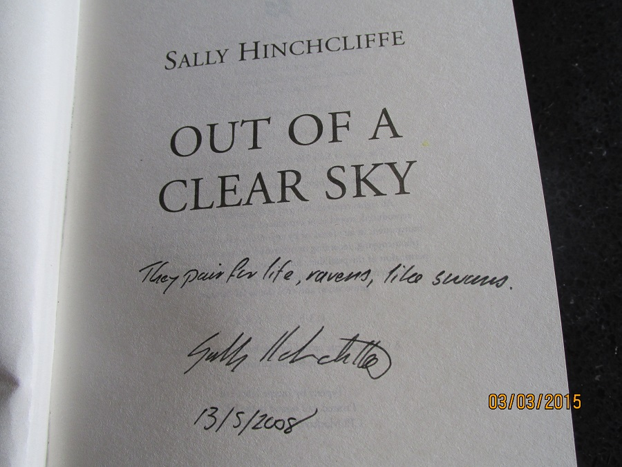 Image for Out Of A Clear Sky [an Unread Signed Lined and Dated 1st printing ]
