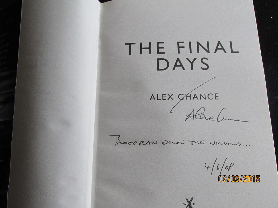 Image for The Final Days [ an Unread Signed Lined and Dated ]first Printing