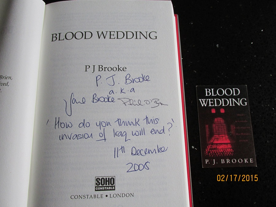 Image for Blood Wedding [an Unread Signed By Both Authors Lined Dated & postcard]