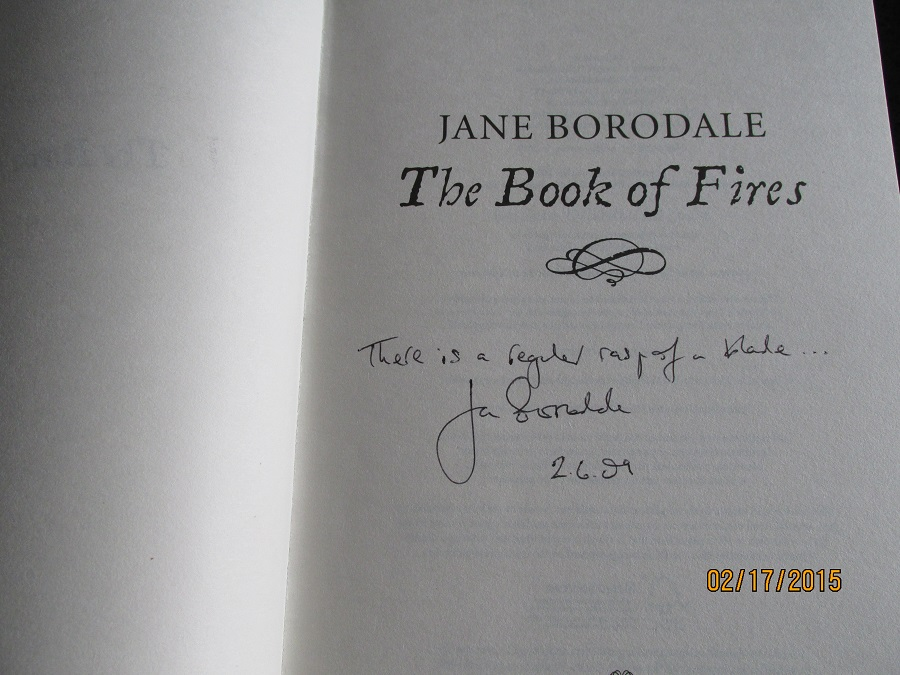 Image for The Book Of Fires Signed First-Lined Dated First Printing