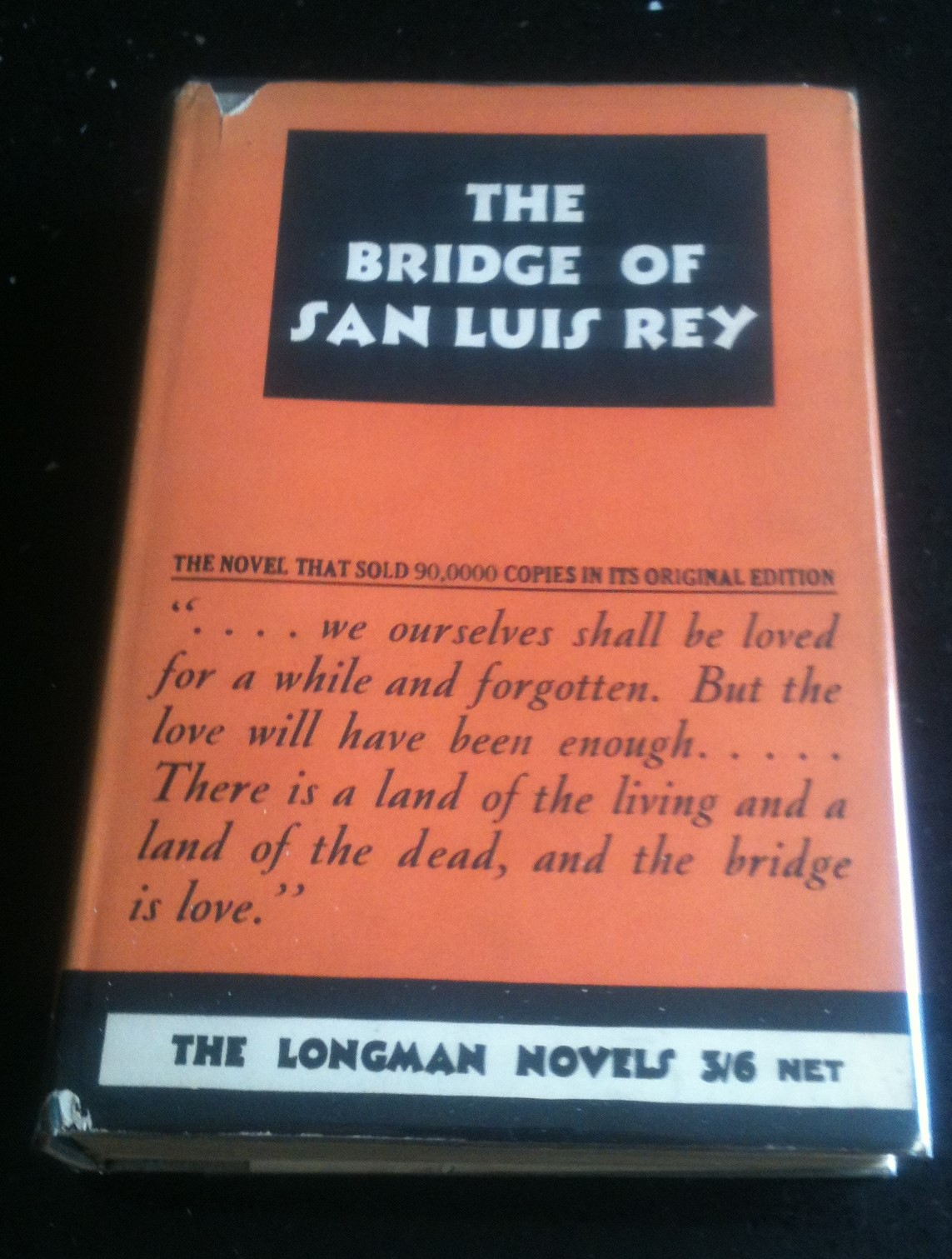 Image for The Bridge of San Luis Rey 1931 Edition in Jacket
