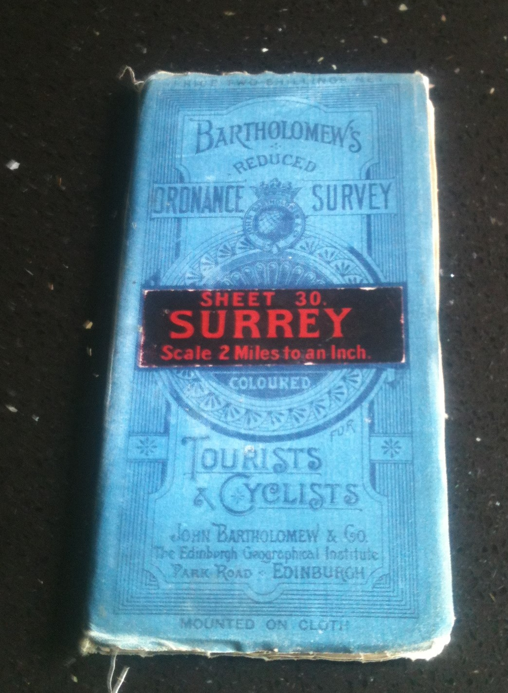 Image for Bartholomew's Reduced Ordnance Survey  Sheet 30 Surrey Scale 2 Miles to an Inch