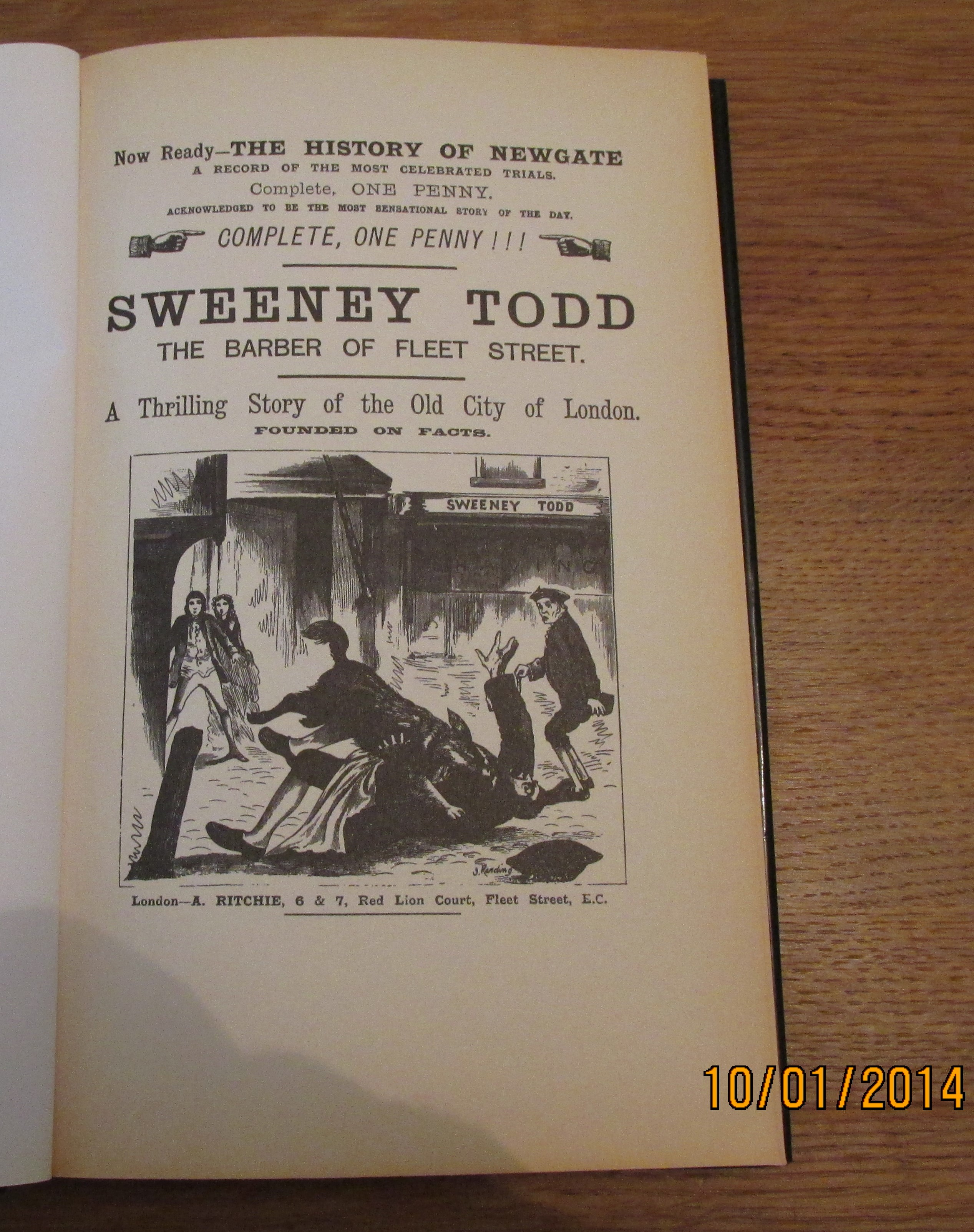 Image for Sweeney Todd the Real Story of the Demon Barber of Fleet Street First Printing