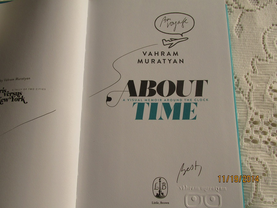 Image for About Time A Visual Memoir Around the Clock Unread Fine Signed Stamped Lined First Printing
