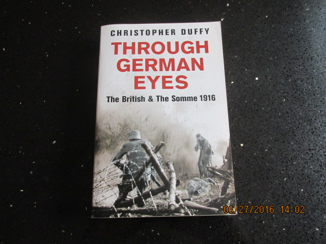 Image for Through German Eyes The British and the Somme 1916