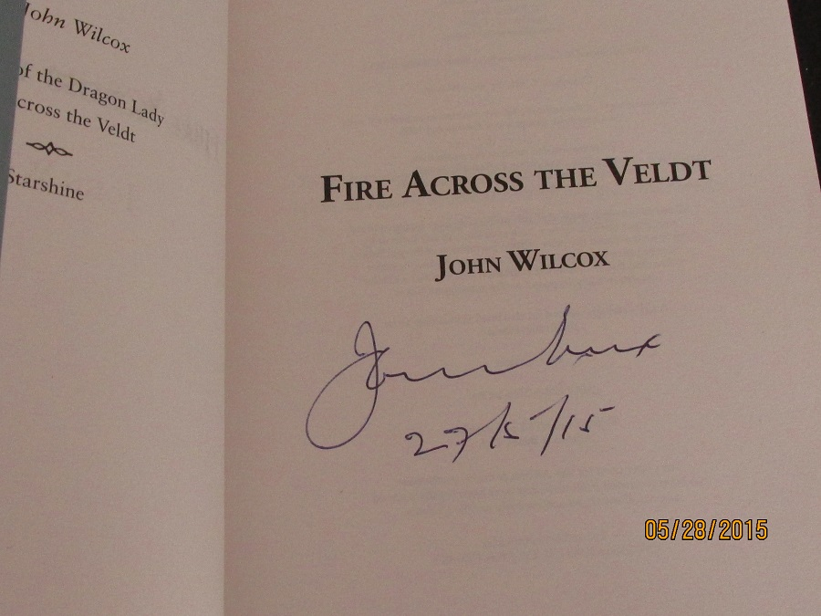 Image for Fire Across The Veldt Unread Signed and Dated First Printing