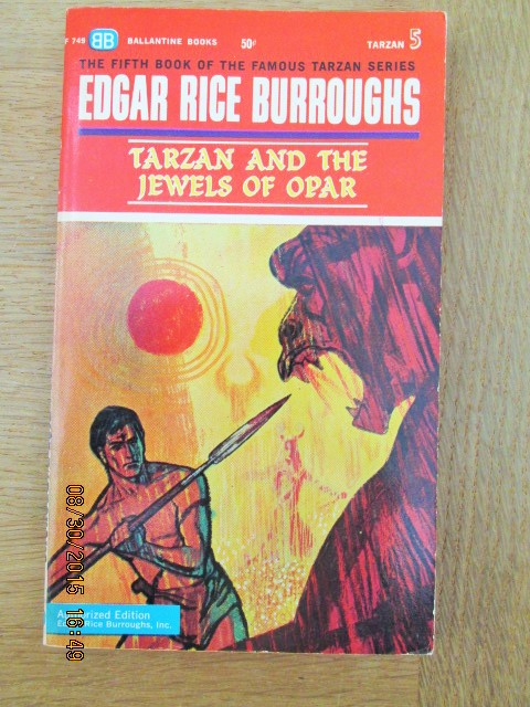 Image for Tarzan and the Jewels of Opar Ballantine Original 1st Printing