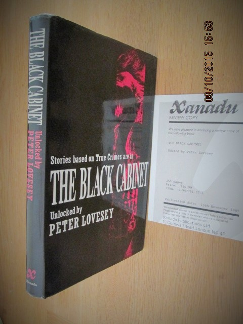 Image for Black Cabinet: Stories Based on Real Crimes [ Signed First Printing Plus Review slip ]