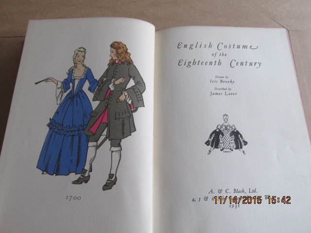Image for English Costume of the Eighteenth Century  [ 1931  First Printing ]