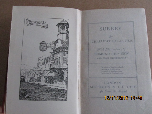 Image for Surrey with Illustrations By Edmund H New [ 1910  Secind Edition ]
