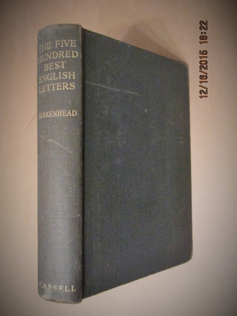 Image for The Five Hundred Best English Letters [ 1931 First Printing ]