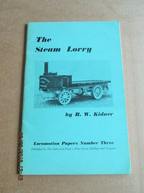 Image for The Steam Lorry Locomotion Papers Number Three
