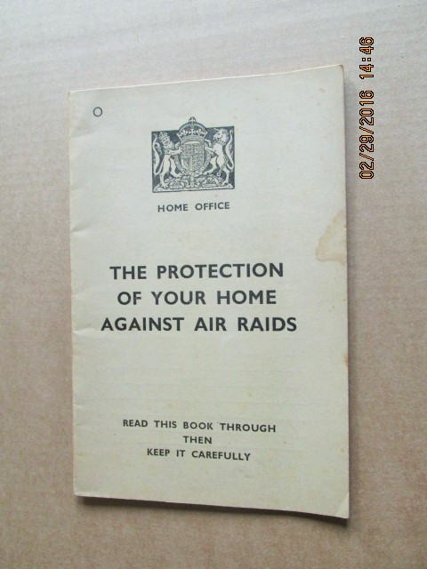 Image for The Protection of Your Home Against Air Raids  1938 1st Printing