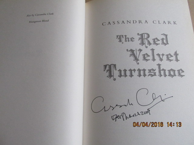 Image for The Red Velvet Turnshoe Signed and Dated first Edition Hardback in Dustjacket