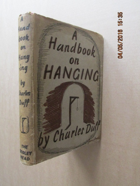 Image for A Handbook on Hanging 1938 Edition in Jacket