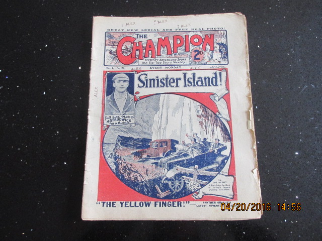 Image for The Champion Comic Vol 1 Number 22  Dated June 24th 1922