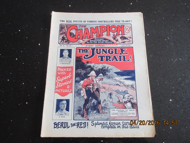 Image for The Champion Comic Vol 2 Number 37  Dated October 7th 1922