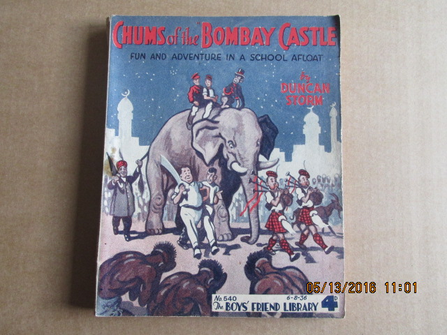 Image for The Boys Friend Library Issue Number 540 Dated 6.8.36  Chums of the Bombay Castle  By Duncan Storm