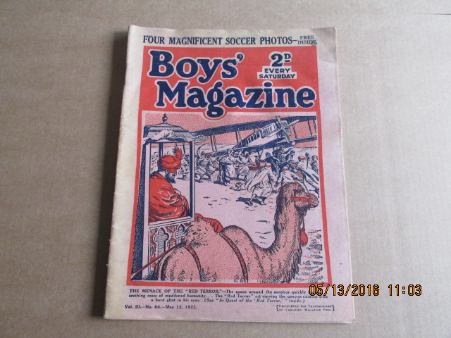 Image for Boy's Magazine Vol 111 No 64  May 12 1923