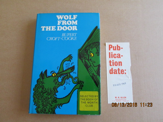 Image for Wolf from the Door First Printing in Jacket Plus Publishers Slip