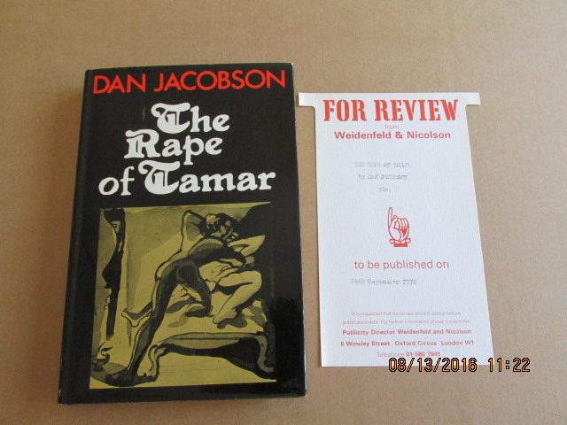 Image for The Rape of Tamar First Edition Hardback in dustjacket Plus Publishers Slip