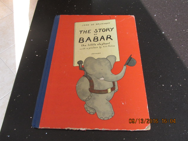 Image for The Story of Babar the Little Elephant with a Preface By A A Milne  [  1937 3rd Edition ]