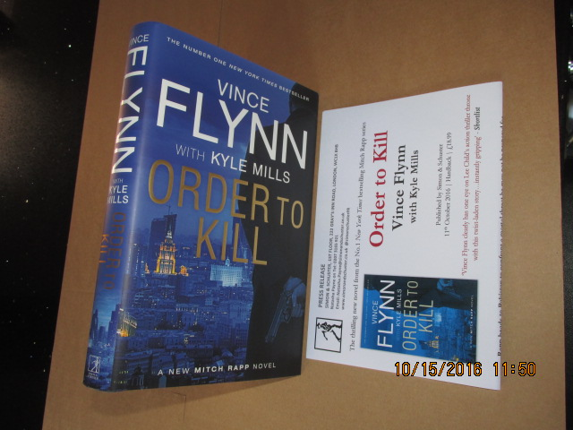 Image for Order to Kill First Printing Plus Publishers Advance Publicity Letter