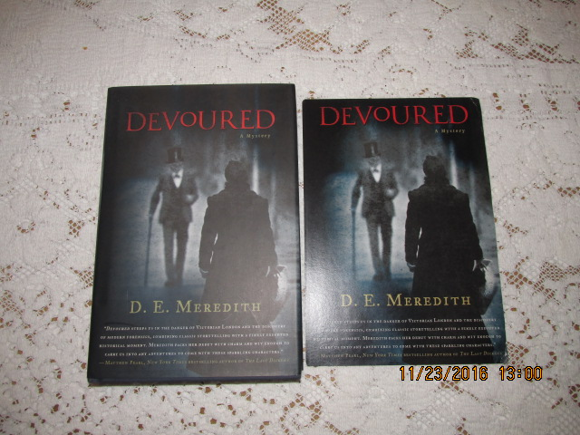 Image for Devoured A Mystery Fine Signed First Edition Hardback in Dustjacket Plus Large Devoured Postcard ]