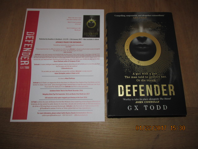 Image for Defender Unread Fine First Edition Hardback in Dustjacket Plus Publicty Letter  ]