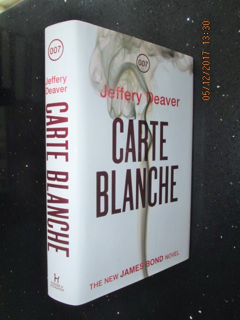 Image for Carte Blanche First Edition Hardback in white dustjacket