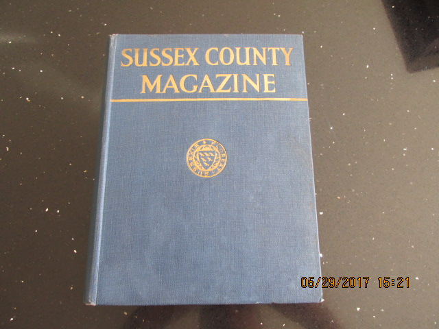 Image for Sussex County Magazine Volume 9 Dated 1935  Edited By Arthur Beckett