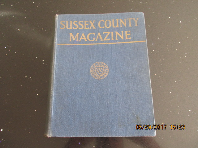 Image for Sussex County Magazine Volume 12 Dated 1938  Edited By Arthur Beckett