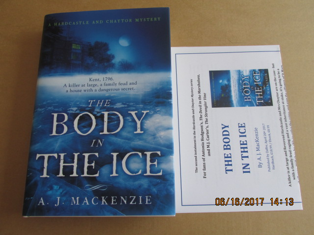 Image for The Body in the Ice First Printing Plus Advance Publicity Letter