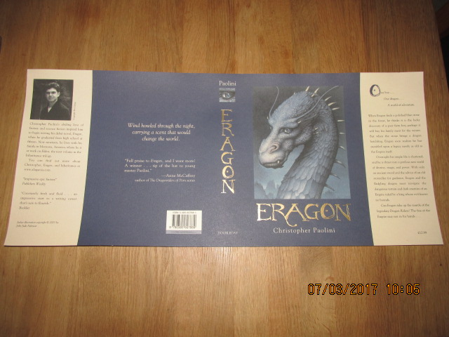Image for Eragon Book One  [ a Fine Unfolded  Dustjacket Only , NO Book ]