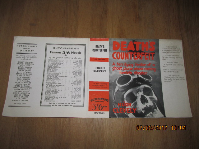 Image for Death's Counterfeit [ Original Dustjacket Only No Book ]