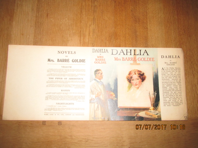 Image for Dahlia [ Original Dustjacket Only No Book ]