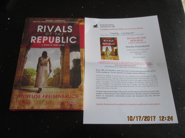 Image for Rivals of the Republic A Blood of Rome Novel Unread Fine First Edition Hardback in Dustjacket Plus Publicity Letter ]