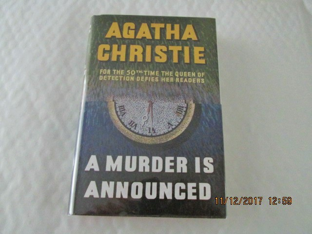 Image for A Murder is Announced unread First Printing of Facsimile Hardback in Dustjacket with Wrap-band