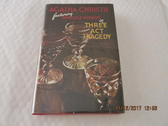 Image for Three Act Tragedy Unread Facsimile first edition Hardback in Dustjacket with Wrap-band
