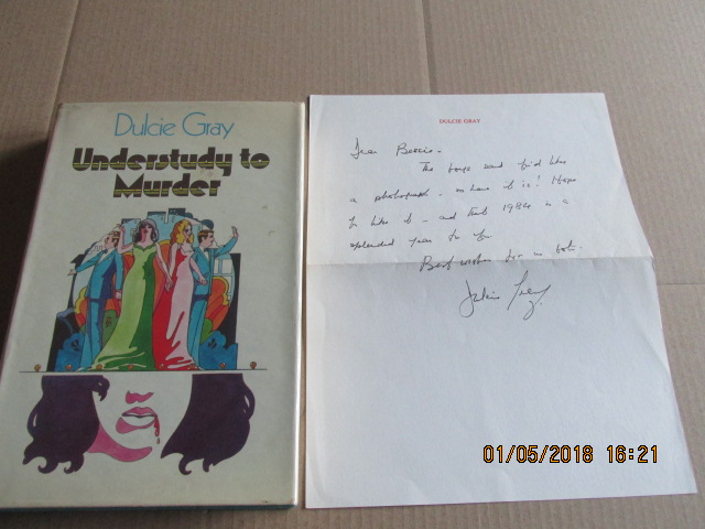 Image for Understudy to Murder Signed First Edition Hardback in Dustjacket Plus Signed Hand Written Letter