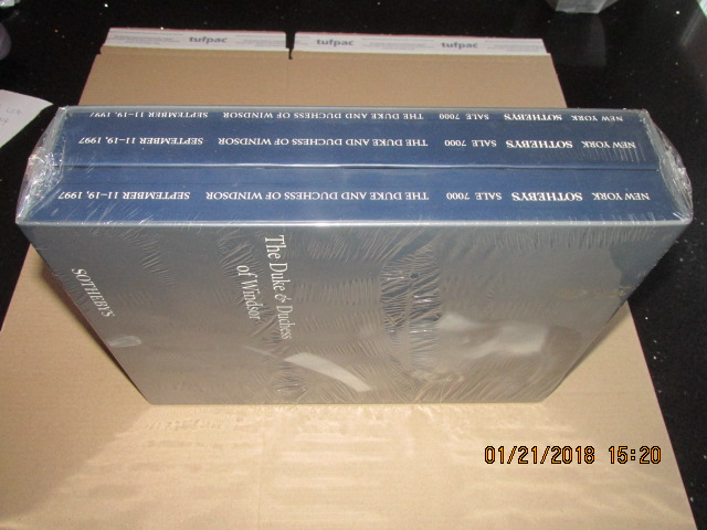 Image for New York Sotherby's Sale 7000 The Duke and Duchess of Windsor 1997  3 Books in Slipcase Still Sealed ]