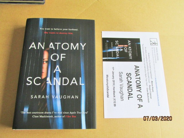 Image for Anatomy of a Scandal Fine Unread First Edition Hardback in Dustjacket Plus Publicity letter