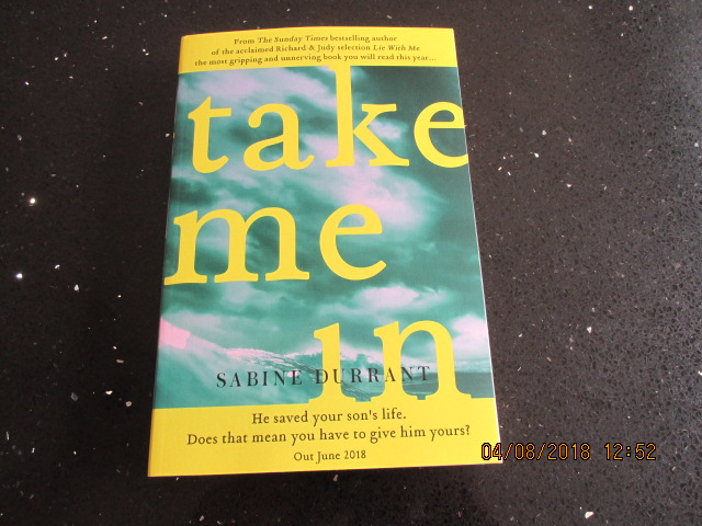 Image for Take Me in [ Uncorrected Proof Copy ]