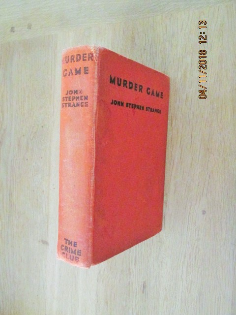 Image for Murder Game First Edition Hardback