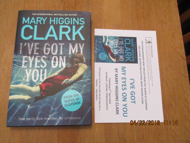 Image for I've Got My Eyes on You Unread First Edition Hardback in Dustjacket Plus Publicty Letter