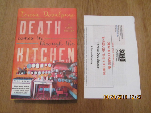 Image for Death Comes in Through the Kitchen First edition Plus Publicty Letter