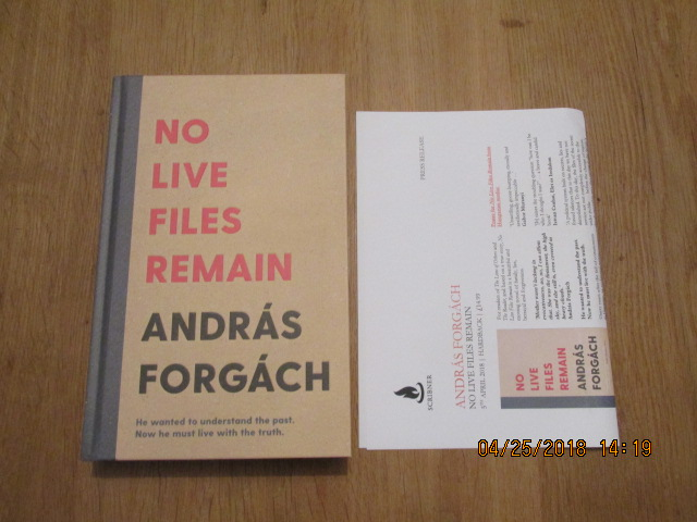 Image for No Live Files Remain Unread First edition Plus Publicty Letter