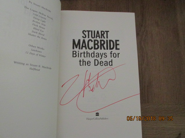 Image for Birthdays for the Dead First Edition Hardback in Dustjacket with Full Signature of Author