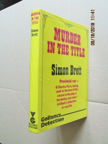 Image for Murder in the Title [ First Impression  Hardback in Dustjacket ]