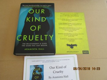 Image for Our Kind of Cruelty First Edition First Impression Hardback in d w Plus Publicty Letter and Promo Card ]